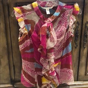 DvF sheer print top